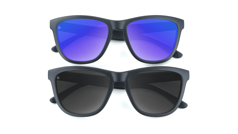 Black and Blue Sunglasses