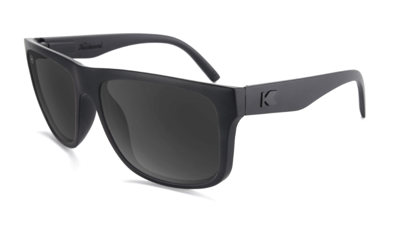Large Black Sunglasses with Black lenses