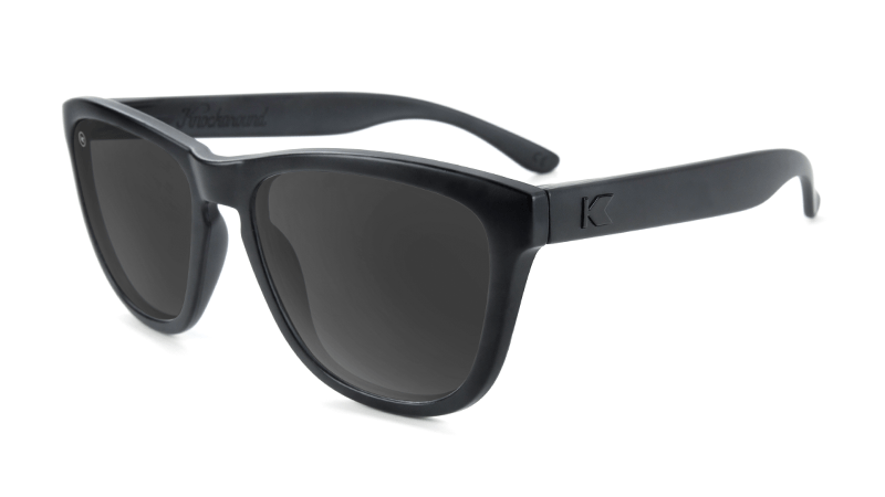 Black sunglasses with black frames