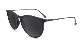 Black sunglasses with round black lenses