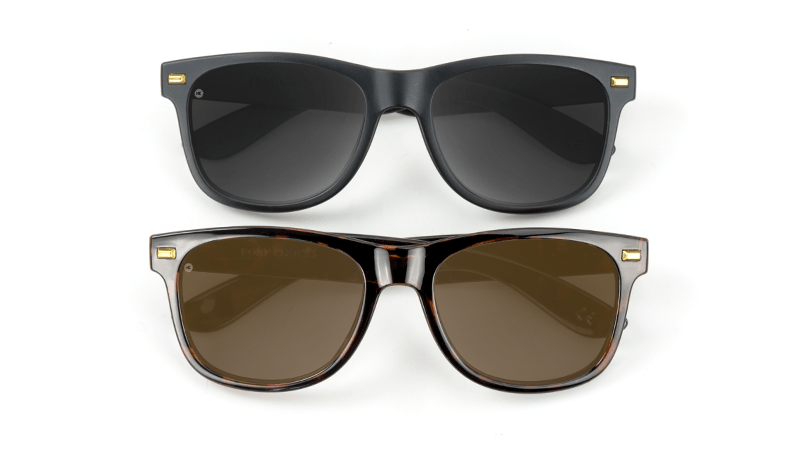 Brown and Black Sunglasses