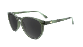 Green jade sunglasses with round black lenses