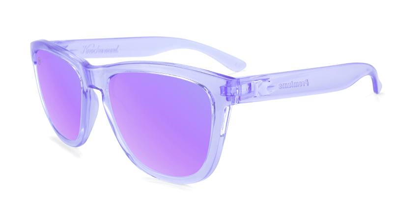 Clear Purple sunglasses with purple lenses
