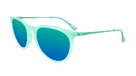 Light blue  sunglasses with round blue lenses