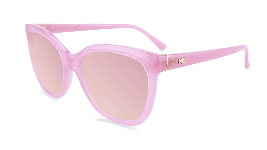 Pink cat eye sunglasses with pink lenses