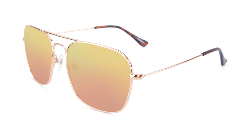 Gold Aviators with Copper square lenses
