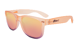 Peach sunglasses with peach lenses