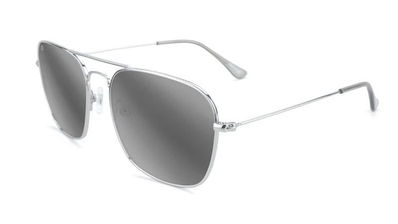 Silver Aviators with Silver Square Lenses