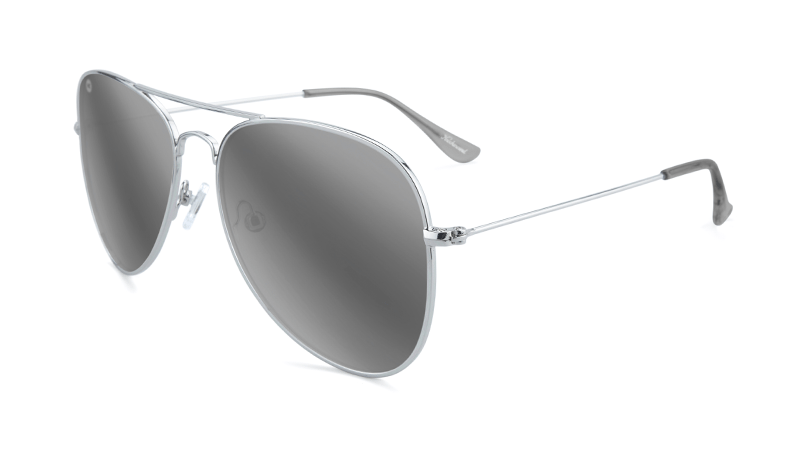 Silver Aviators with silver lenses