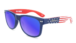 American Flag sunglasses with blue lenses