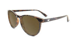 Glossy amber tortoise sunglasses with round amber lenses