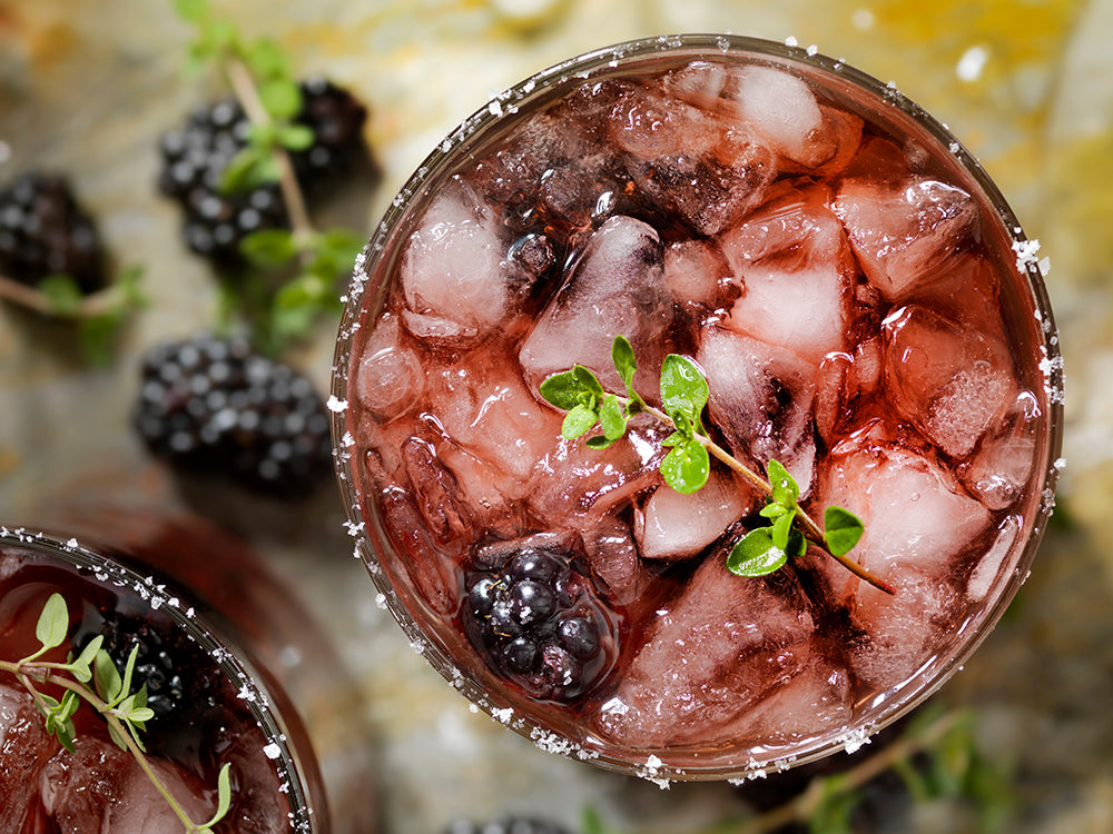 Easy summer drinks blackberry tequila cooler