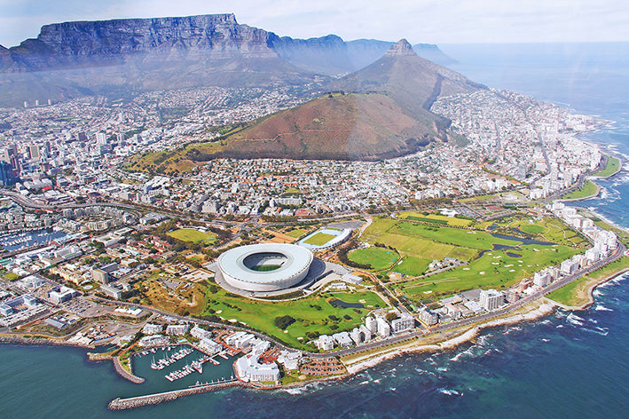 Helicopter view of Cape Town, South Africa