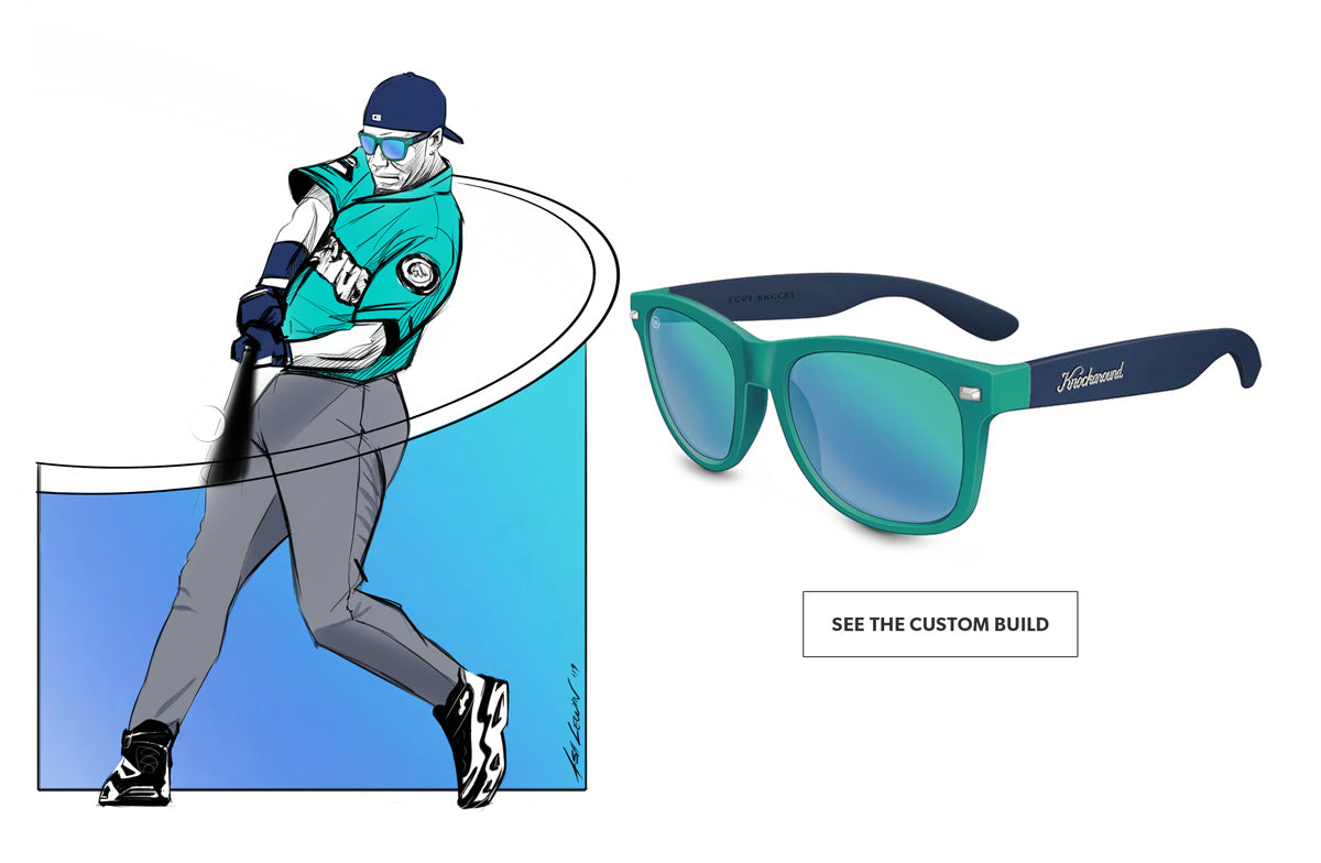 Ken Griffey Jr. shoes and sunglasses