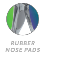 Clear Grey / Green Moonshine Fast Lanes Sport Rubber Nose Callout