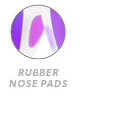 Clear Jelly / Purple Fast Lanes Sport Rubber Nose Callout