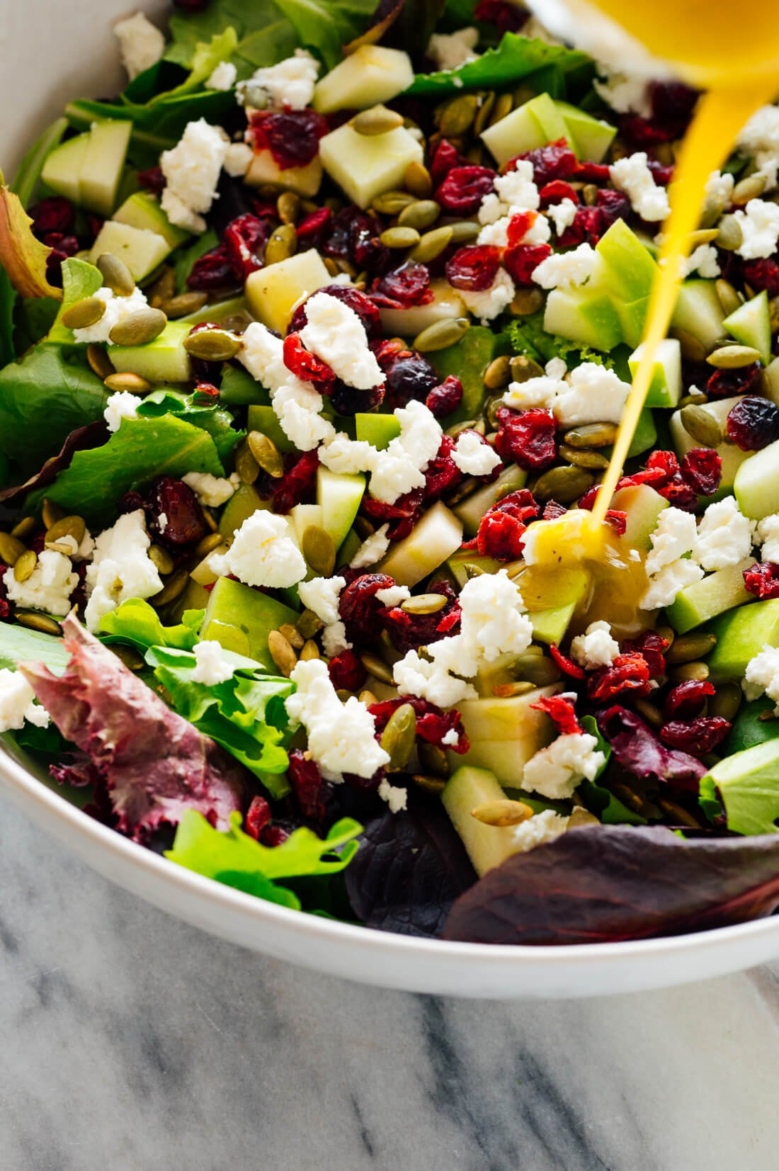 Green Salad with Apples, Cranberries, and Pepitas
