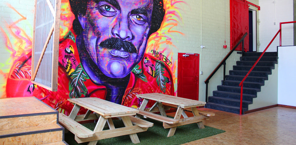 THE MADSTEEZ MAGNUM P.I. WALL AT KNOCKAROUND HQ