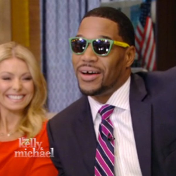 Michael Strahan Wearing Knockaround Sunglasses