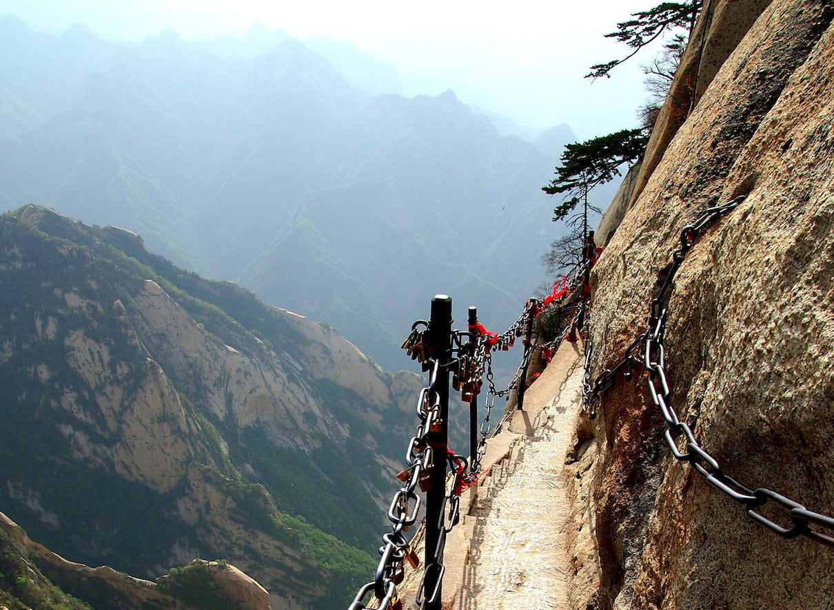"Mount Hua China known as ""plank road in the sky"""