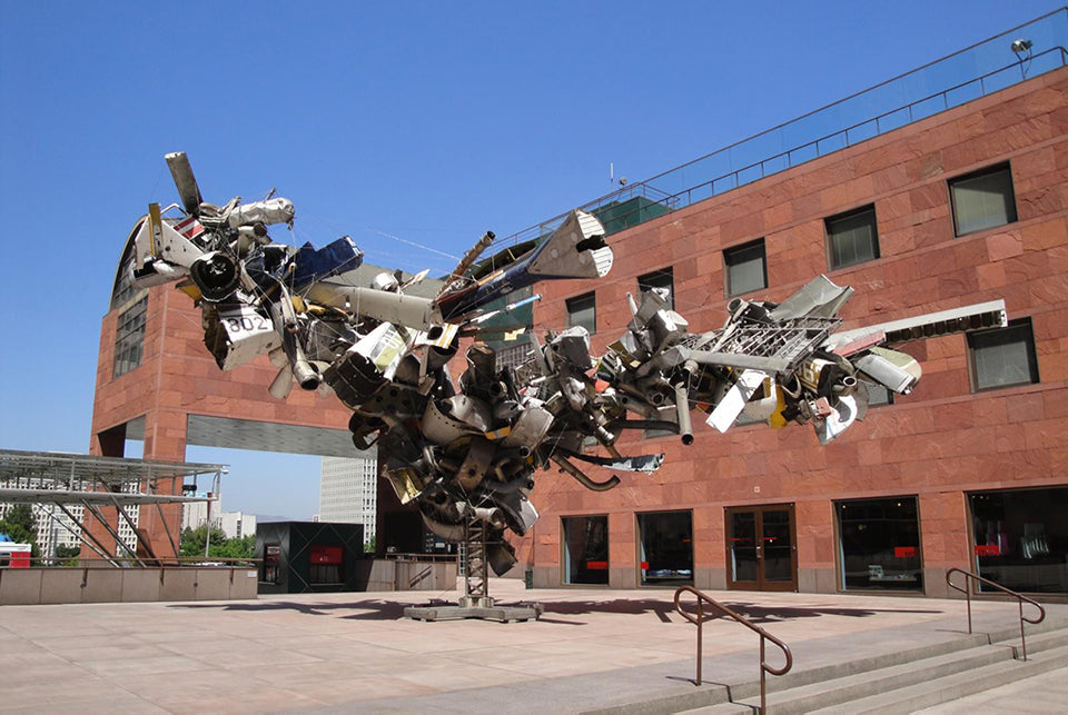 Outside the Museum of Contemporary Art in Los Angeles
