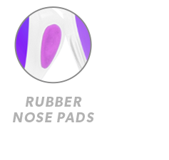 Clear Jelly / Purple Premiums Sport Rubber Nose Callout