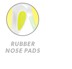 Rubberized Clear / Yellow Green Premiums Sport Rubber Nose Callout
