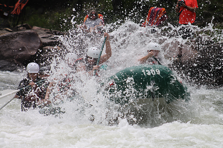 White water rafting in Newry Maine in the summer