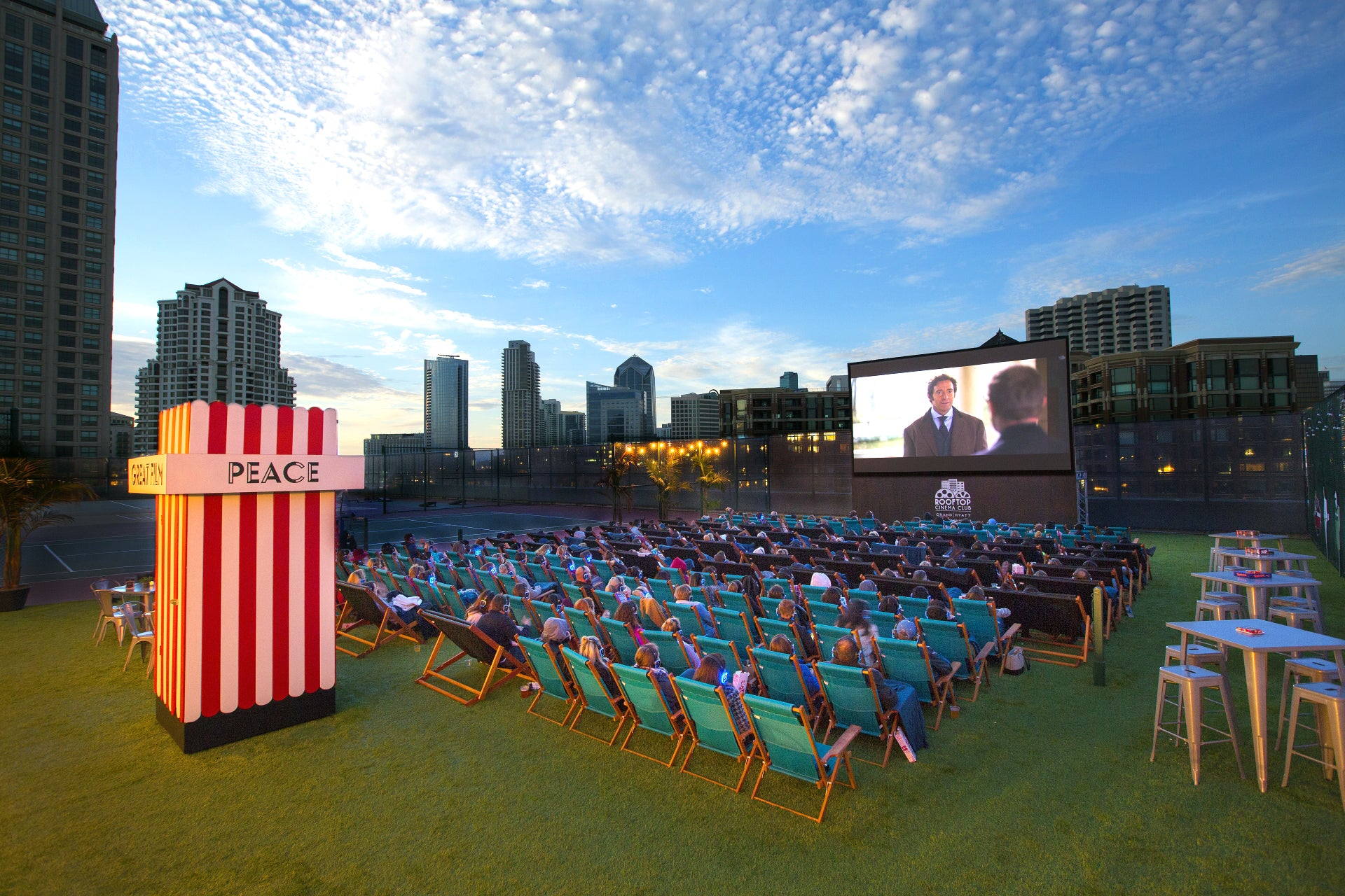 Rooftop Cinema Club outdoor movie theater in San Diego, CA
