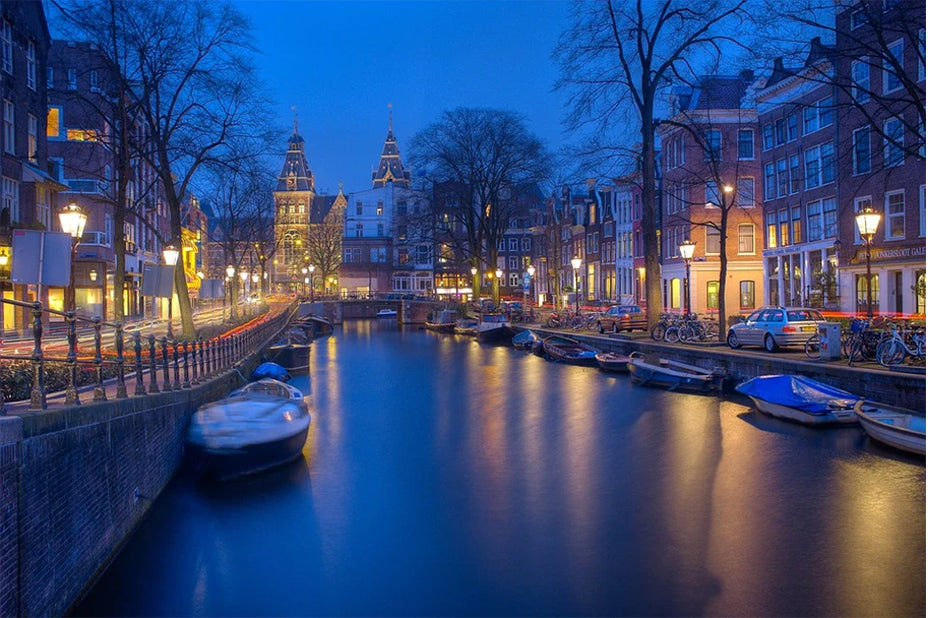 Amsterdam Canals in the Evening