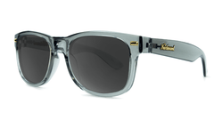 Fort Knocks Sunglasses With Grey Frames and Black Smoke Lenses, Threequarter