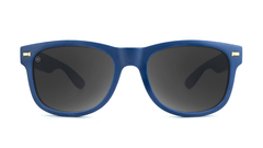 Sunglasses with Navy Frames and Smoke Lenses, Front
