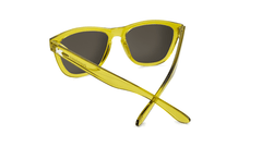 Sunglasses with Amber Monochrome Frames and Gold Lenses, Back