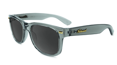 Fort Knocks Sunglasses With Grey Frames and Black Smoke Lenses, Flyover