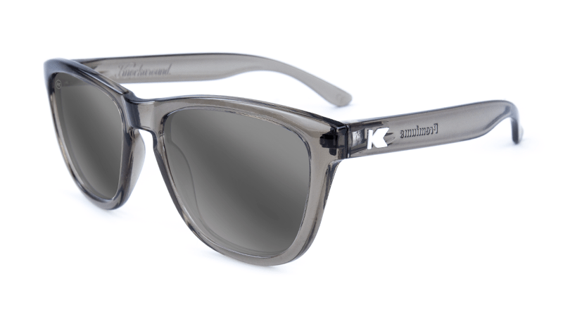 Premiums Sunglasses with Grey Frames and Silver Grey Mirrored Lenses, Flyover