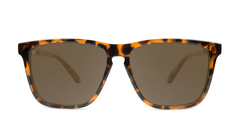 Knockaround Fast Lanes Tortoise Shell Frames with Amber Lenses, Front