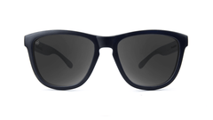 Premiums Sunglasses with Matte Black Frames and Black Smoke Lenses, Front