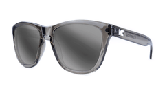 Premiums Sunglasses with Grey Frames and Silver Grey Mirrored Lenses, Three Quarter