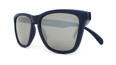 Sunglasses with Navy Blue Frames and Black Smoke Lenses, Front