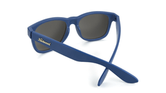 Sunglasses with Navy Frames and Smoke Lenses, Back