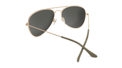 Sunglasses with Gold Metal Frame and Polarized Gold Lenses, Back