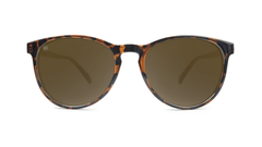 Mai Tais Sunglasses with Glossy Tortoise Shell and Brown Amber Lenses, Front