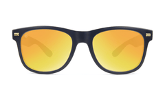 Fort Knocks Sunglasses with Matte Black Frames and Yellow Sunset Mirrored Lenses, Front