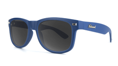 Sunglasses with Navy Frames and Smoke Lenses, Threequarter