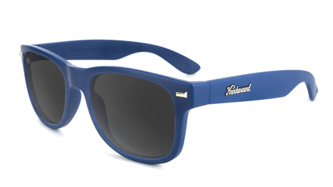 Sunglasses with Navy Frames and Smoke Lenses, Flyover