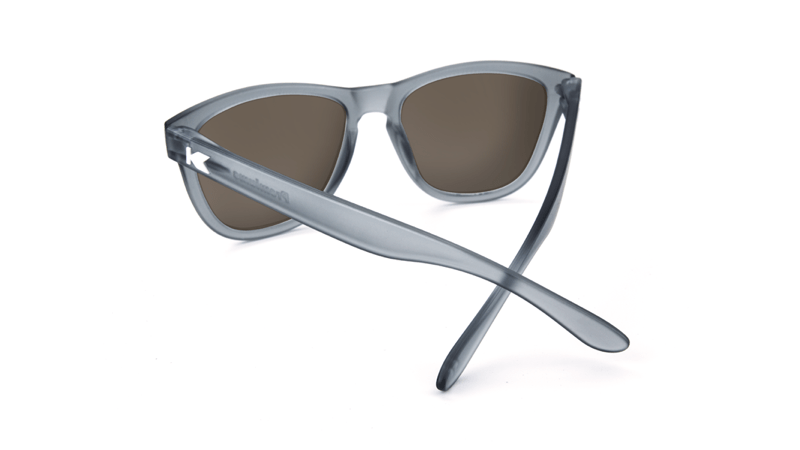 ca8035624c ... Premiums Sunglasses with Frosted Grey Frames and Red Sunset Mirrored  Lenses
