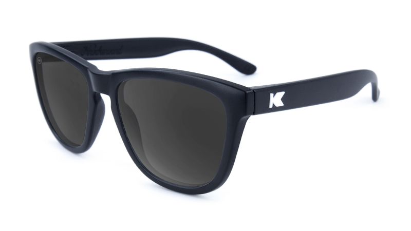Premiums Sunglasses with Matte Black Frames and Black Smoke Lenses, Flyover