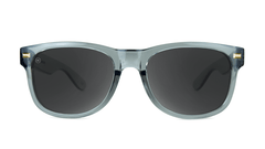 Fort Knocks Sunglasses With Grey Frames and Black Smoke Lenses, Front