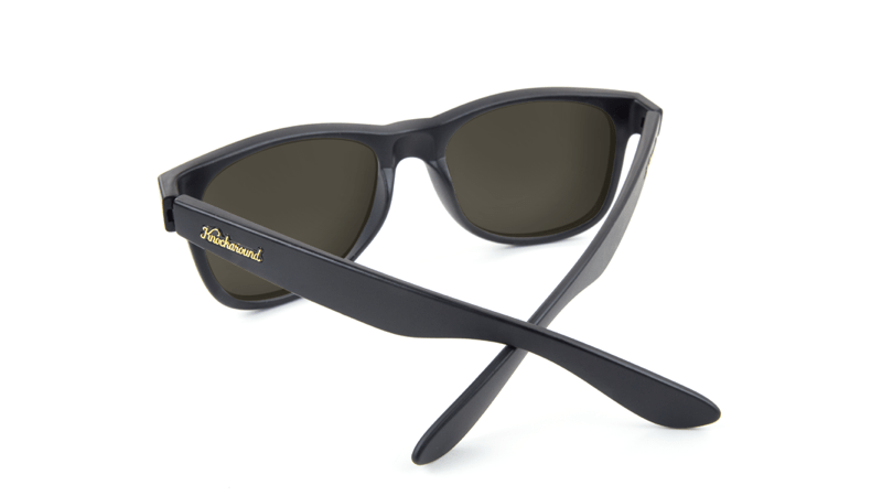 4400f398e20 ... Fort Knocks Sunglasses with Matte Black Frames and Yellow Sunset  Mirrored Lenses