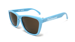 Classics Bio-Based Sunglasses with Cornflower Blue Frames and Brown Amber Lenses, Flyover